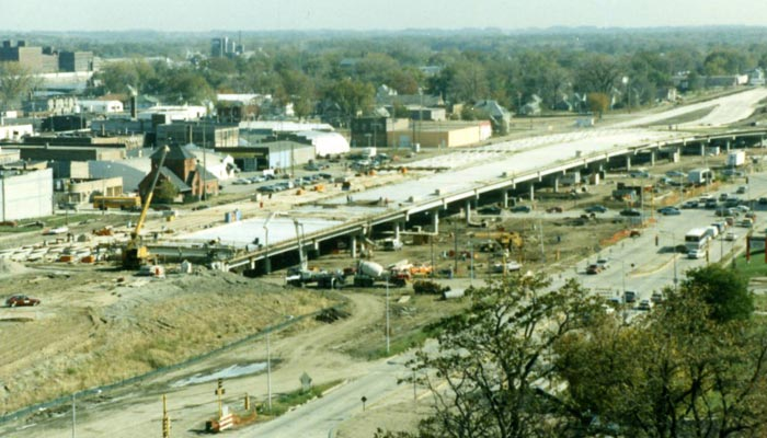 1990-92 Hwy 218 Construction through Waterloo, Iowa